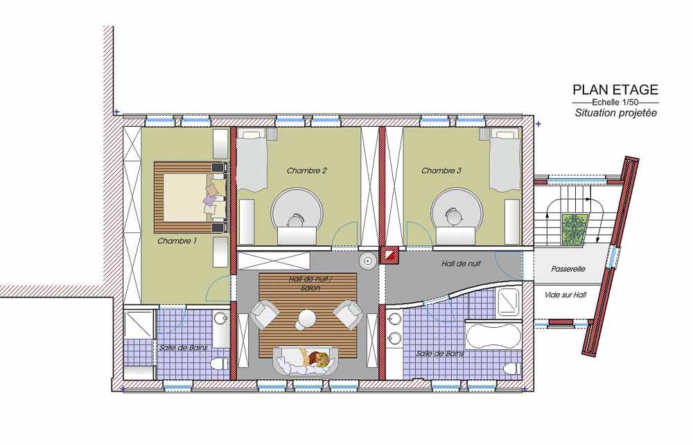 Archibald co architecture et urbanisme charleroi - Renovation d une grange en maison d habitation ...