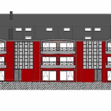 Construction d'appartements à Ransart - Façade