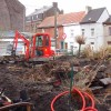 Aménagement d'un jardin à Gilly (Charleroi) - Pendant Travaux