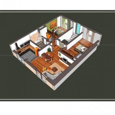 Construction d'appartements à Gosselies - Vue en plan